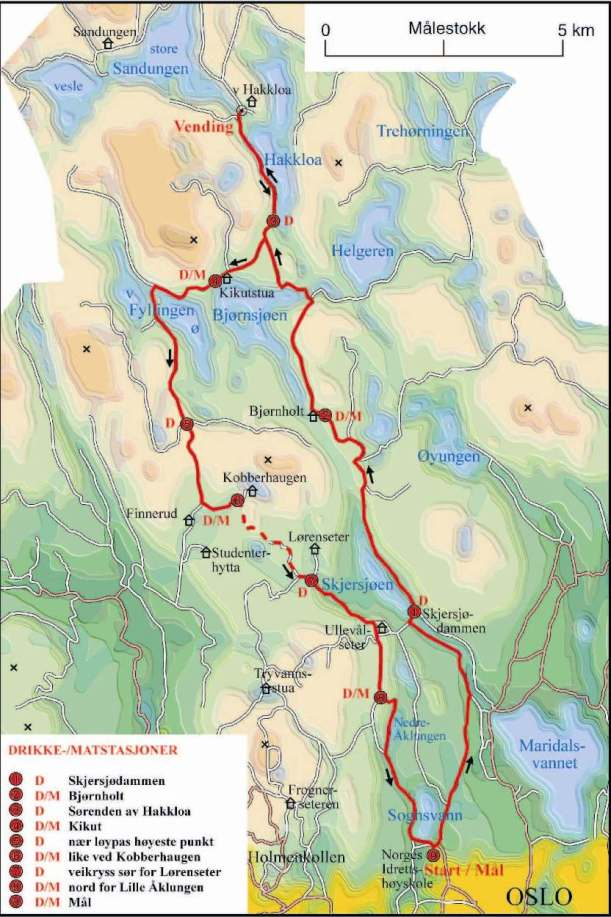 nordmarka route